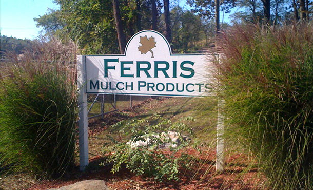 Ferris Mulch Products Sign