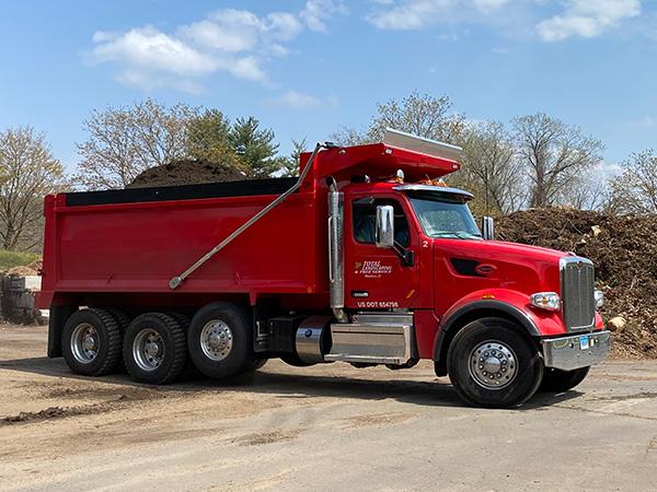 Top Soil Tri-Axle Delivery Truck